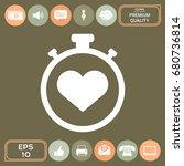 stopwatch with heart symbol  ...   Shutterstock .eps vector #680736814