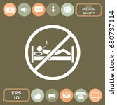 no smoking in bed   prohibition ... | Shutterstock .eps vector #680737114