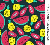 bright seamless pattern with... | Shutterstock .eps vector #680737138