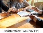 Small photo of Business Signing a Contract Buy - sell house.