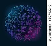 employment and recruitment... | Shutterstock .eps vector #680743240