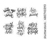hand drawn word. brush pen... | Shutterstock .eps vector #680743393