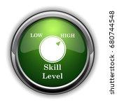 skill level icon. skill level... | Shutterstock . vector #680744548