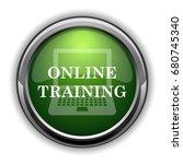 online training icon. online... | Shutterstock . vector #680745340
