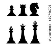 black chess figures silhouettes ... | Shutterstock .eps vector #680746708