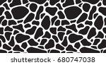 cow skin. dalmatians dog.... | Shutterstock .eps vector #680747038