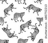 seamless pattern of sketch... | Shutterstock .eps vector #680752213