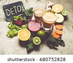 detox juice toned photo | Shutterstock . vector #680752828
