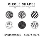 circle shapes set. universal... | Shutterstock .eps vector #680754076