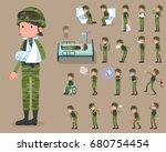set of various poses of flat... | Shutterstock .eps vector #680754454