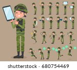 A Set Of Military Women With...