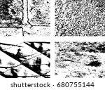 grunge texture set    Shutterstock .eps vector #680755144
