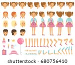 mascot creation kit of little... | Shutterstock .eps vector #680756410