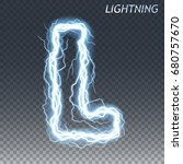 lightning and thunder bolt or... | Shutterstock .eps vector #680757670