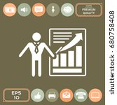 presentation sign icon. man... | Shutterstock .eps vector #680758408