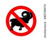 stop ram. attention farm animal.... | Shutterstock .eps vector #680758474
