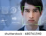 facial recognition system... | Shutterstock . vector #680761540