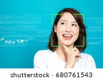 facial recognition system...   Shutterstock . vector #680761543
