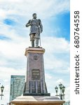 Small photo of Novosibirsk, Siberia, Russia - July 17, 2017: the Monument to Russian Emperor Alexander III on the embankment of the river Ob