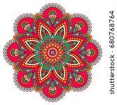 flower mandala. vintage...   Shutterstock .eps vector #680768764