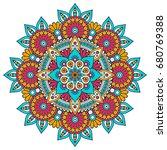 flower mandala. vintage... | Shutterstock .eps vector #680769388