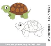 beautiful turtle to be traced... | Shutterstock .eps vector #680775814