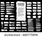 painted grunge stripes set.... | Shutterstock .eps vector #680775898