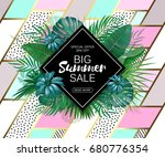 summer sale background layout... | Shutterstock .eps vector #680776354