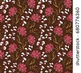 cute floral pattern in the... | Shutterstock .eps vector #680776360