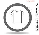 t shirt icon illustration... | Shutterstock .eps vector #680778154