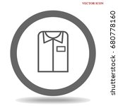 t shirt icon illustration... | Shutterstock .eps vector #680778160