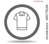 t shirt icon illustration... | Shutterstock .eps vector #680778184