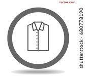 t shirt icon illustration... | Shutterstock .eps vector #680778190