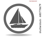 ship icon isolated on background | Shutterstock .eps vector #680778679