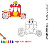 funny toy princess chariot to... | Shutterstock .eps vector #680779210