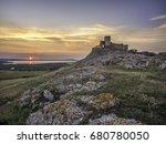 Sunset Beyond Fortress