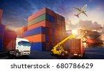 industrial container cargo... | Shutterstock . vector #680786629