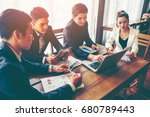 group of business man and women ... | Shutterstock . vector #680789443