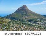 cape town lions head mountain... | Shutterstock . vector #680791126