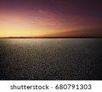 asphalt road and sky | Shutterstock . vector #680791303