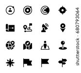 icon set of maps and location | Shutterstock .eps vector #680793064