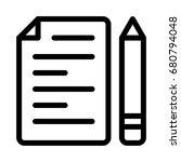 file editor icon | Shutterstock .eps vector #680794048