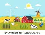vector flat style illustration... | Shutterstock .eps vector #680800798