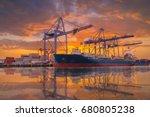 logistics and transportation of ... | Shutterstock . vector #680805238