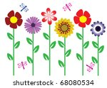 vector flowers | Shutterstock .eps vector #68080534