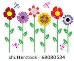 vector flowers | Shutterstock .eps vector #68080534