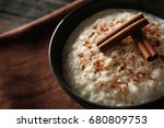 delicious rice pudding with... | Shutterstock . vector #680809753