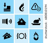 set of 9 mixed icons such as... | Shutterstock .eps vector #680810194