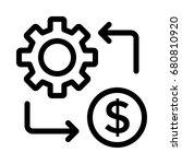 dollar setting icon   Shutterstock .eps vector #680810920