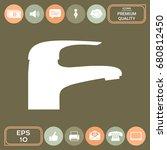 modern faucet icon | Shutterstock .eps vector #680812450